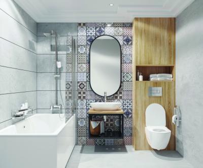 Mintás és homogén hidegburkolatok - fürdő / WC ötlet, modern stílusban