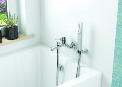 Kék fehér hidegburkolat - fürdő / WC ötlet, modern stílusban