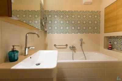 Cementlap a fürdőszobában - fürdő / WC ötlet, modern stílusban