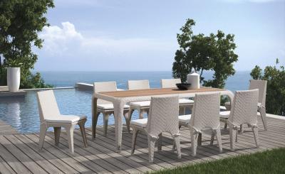 Fehér kerti bútor - erkély / terasz ötlet, modern stílusban