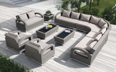 Kerti bútor sarokkanapéval - erkély / terasz ötlet, modern stílusban