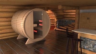 Különleges infraszauna - fürdő / WC ötlet, modern stílusban