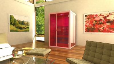 Infraszauna otthon - nappali ötlet, modern stílusban