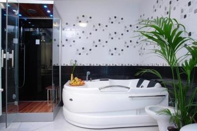 Wellness a fürdőszobában - fürdő / WC ötlet, modern stílusban