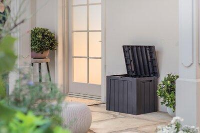 Kerti tároló láda - erkély / terasz ötlet, modern stílusban