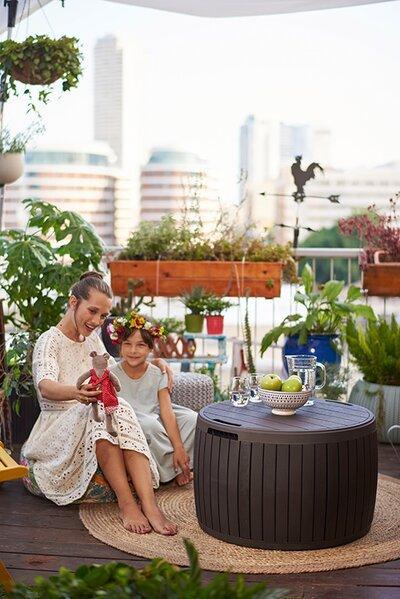 Kültéri tároló - erkély / terasz ötlet, modern stílusban