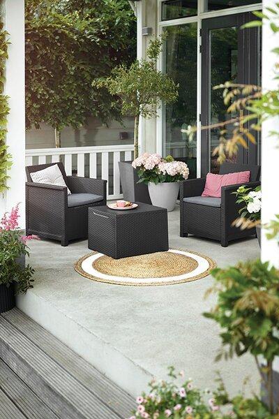 Műanyag kerti bútorok - erkély / terasz ötlet, modern stílusban