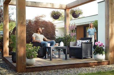 Modern kerti bútor szett - erkély / terasz ötlet, modern stílusban