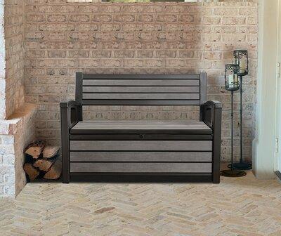 Kerti pad tárolóval - erkély / terasz ötlet, modern stílusban