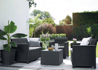 Kerti bútor szett - erkély / terasz ötlet, modern stílusban