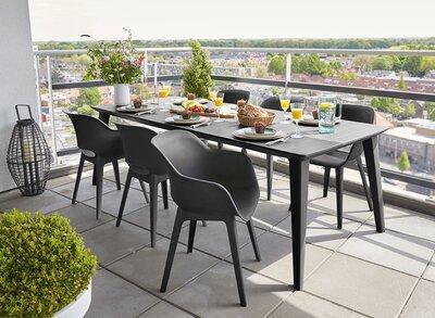 Kültéri étkező garnitúra - erkély / terasz ötlet, modern stílusban