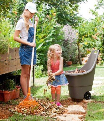 Kerekes kerti tároló - kert / udvar ötlet, modern stílusban
