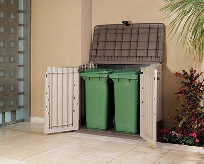 Tároló kukákhoz - kert / udvar ötlet, modern stílusban