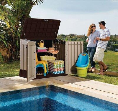 Kerti tároló doboz - kert / udvar ötlet, modern stílusban