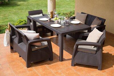 Rattan hatású kerti bútor garnitúra - erkély / terasz ötlet, modern stílusban