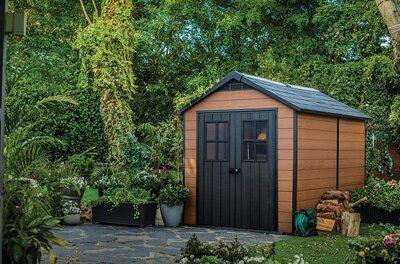 Kerti ház műanyagból - kert / udvar ötlet, rusztikus stílusban