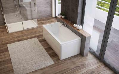 Akril egyenes kád - fürdő / WC ötlet, modern stílusban