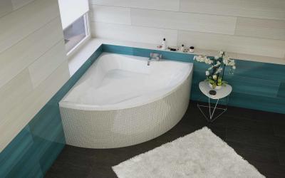 Akril sarokkád - fürdő / WC ötlet, modern stílusban
