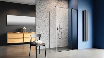Üveg zuhanykabin - fürdő / WC ötlet, minimál stílusban