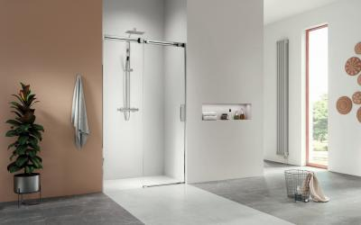 Üveg zuhanyajtó - fürdő / WC ötlet