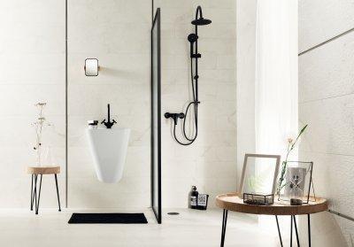 Fehér hidegburkolat - fürdő / WC ötlet, modern stílusban