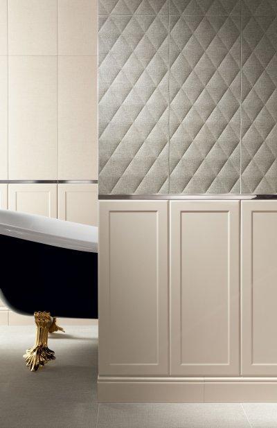 Fehér csempe - fürdő / WC ötlet, modern stílusban