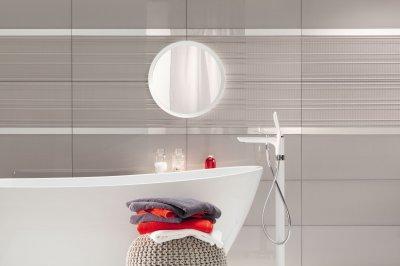 Fényes csempe - fürdő / WC ötlet, modern stílusban