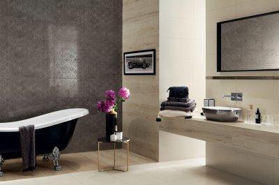 Világos és sötét csempék - fürdő / WC ötlet, modern stílusban