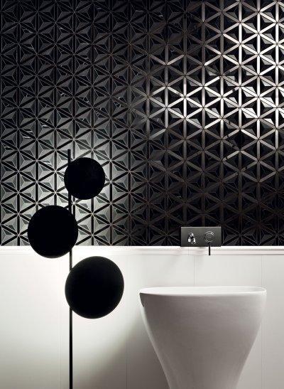 Különleges megjelenésű csempe - fürdő / WC ötlet, modern stílusban