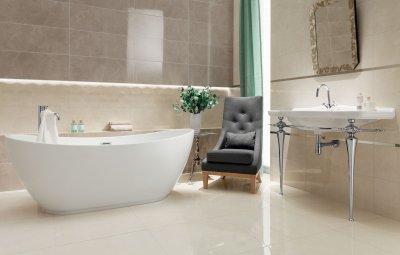 Szürke és fehér csempe - fürdő / WC ötlet, modern stílusban