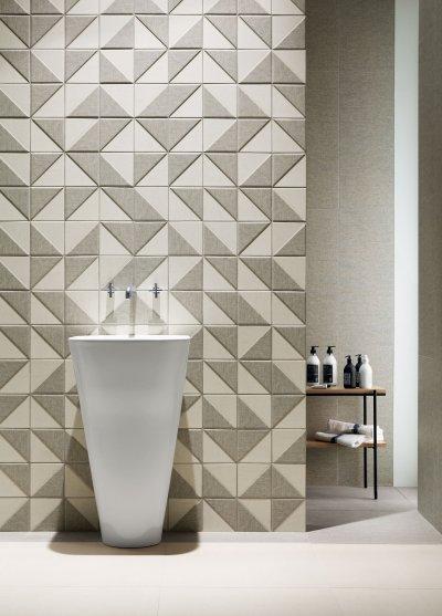 Kis méretű csempe - fürdő / WC ötlet, modern stílusban