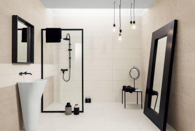 Különleges felületű csempék - fürdő / WC ötlet, modern stílusban