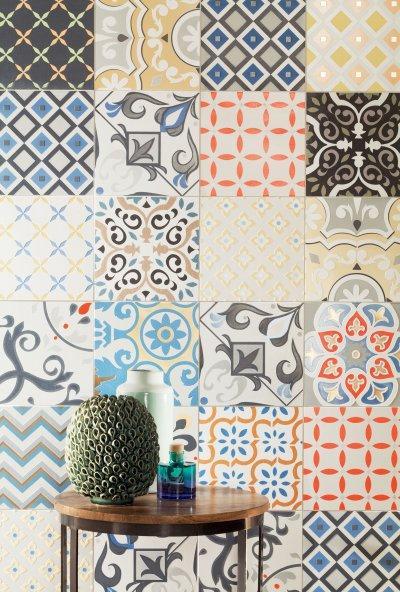 Dekoratív csempék - előszoba ötlet, modern stílusban
