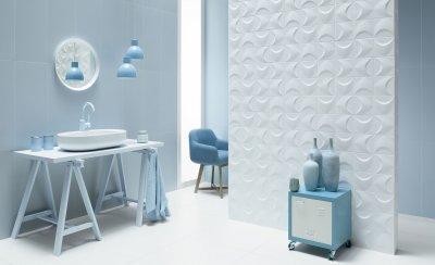 3D csempe - fürdő / WC ötlet, modern stílusban