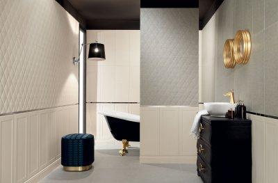 Domború csempe - fürdő / WC ötlet, klasszikus stílusban