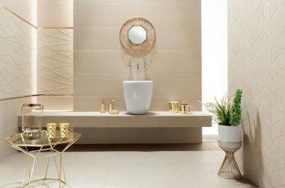 Arany dekorcsík - fürdő / WC ötlet, modern stílusban