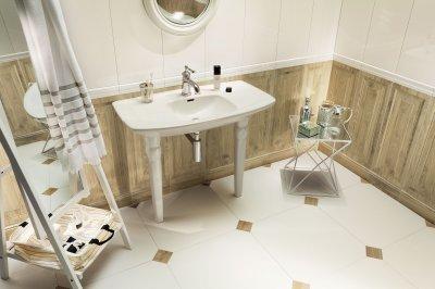 Fahatású csempe - fürdő / WC ötlet, klasszikus stílusban