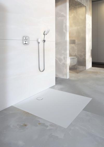 Innovatív zuhanytálca - fürdő / WC ötlet, minimál stílusban