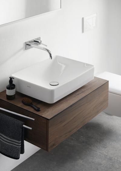 Pultra építhető, elegáns mosdókagyló - fürdő / WC ötlet, modern stílusban