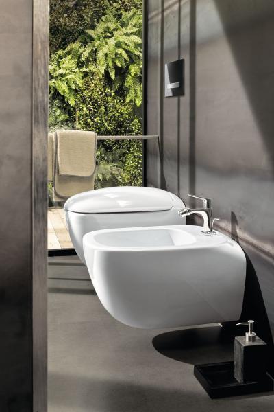 Innovatív, peremmentes vécécsésze - fürdő / WC ötlet, modern stílusban