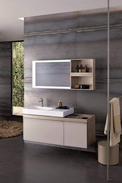 Design mosdókagyló elegáns fürdőszoba bútorokkal - fürdő / WC ötlet
