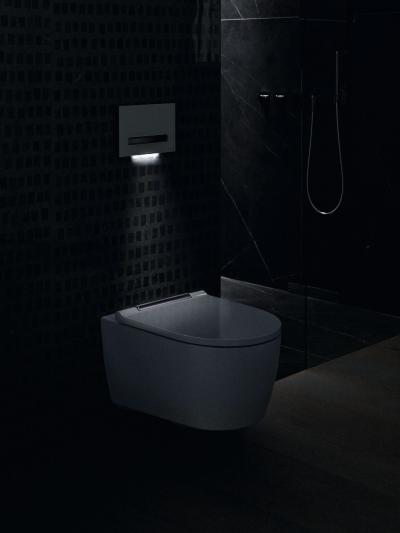 Futurisztikus wc csésze működtető lappal - fürdő / WC ötlet