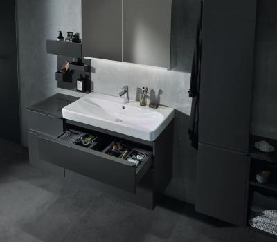 Különleges mosdószekrény ültethető mosdókagylóval - fürdő / WC ötlet, modern stílusban