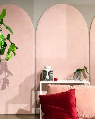 Púder színek - nappali ötlet, modern stílusban
