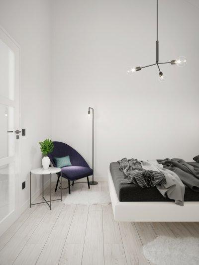 Fehér padló a hálóban - háló ötlet, modern stílusban
