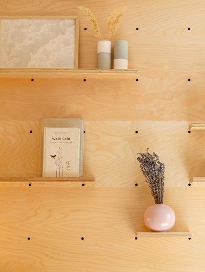 Fali tároló - nappali ötlet, modern stílusban