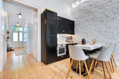 Fekete fehér konyha - konyha / étkező ötlet