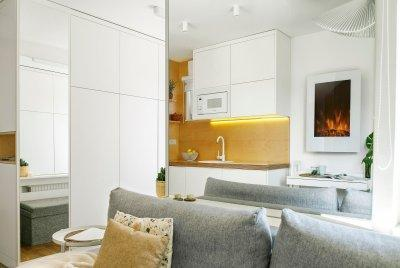 Kandallós konyha - konyha / étkező ötlet, modern stílusban