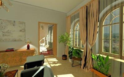 Eklektikus otthon nappalija a budai várnegyedben - nappali ötlet, egyéb stílusban