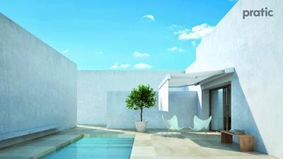 Fehér napellenző - erkély / terasz ötlet